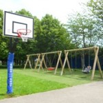 Our basketball post and swings